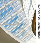 glass ceiling with window.  the ... | Shutterstock . vector #559427998