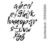 hand drawn font made by dry... | Shutterstock .eps vector #559432003