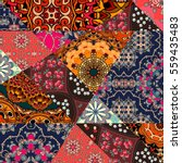 Festive Patchwork Pattern In...