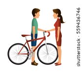 person avatar in bicycle... | Shutterstock .eps vector #559436746