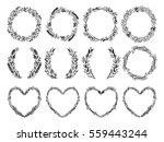 hand sketched vector vintage... | Shutterstock .eps vector #559443244