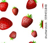 seamless pattern with strawberry | Shutterstock .eps vector #559451848