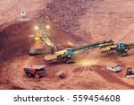 part of a pit with big mining... | Shutterstock . vector #559454608