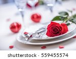 Table Setting For Valentines O...