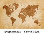 world map on grunge background  ...   Shutterstock . vector #559456126