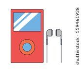 music player icon illustration...