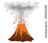 how to draw a volcano erupting
