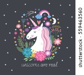 unicorn are real | Shutterstock .eps vector #559463560