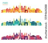 paris detailed skyline. vector... | Shutterstock .eps vector #559464088