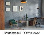 flat of traveler with decors... | Shutterstock . vector #559469020