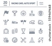 car racing vector line icons.... | Shutterstock .eps vector #559469668