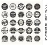 retro labels and badges... | Shutterstock .eps vector #559470778