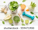 fruits  vegetables  smoothie ... | Shutterstock . vector #559471900