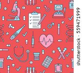 seamless pattern medical icons  ... | Shutterstock .eps vector #559471999