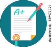 a  grade | Shutterstock .eps vector #559473724