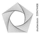 pentagon abstract dots ... | Shutterstock .eps vector #559474408