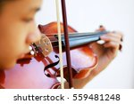 Violin Play With Blur Face.