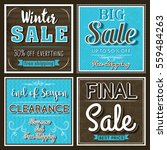 four square banners with sale... | Shutterstock .eps vector #559484263
