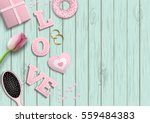 romantic background with pink... | Shutterstock .eps vector #559484383