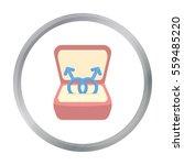 ring icon cartoon. single gay... | Shutterstock .eps vector #559485220