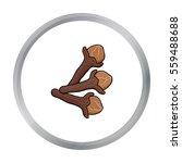 clove icon in cartoon style...   Shutterstock .eps vector #559488688