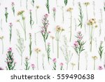 Floral Pattern With Pink And...