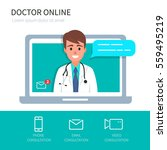 doctor online concept with... | Shutterstock .eps vector #559495219