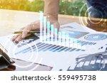 businessman hand working with... | Shutterstock . vector #559495738