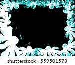 blue cyan flower style smoke... | Shutterstock . vector #559501573
