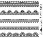 set of seamless borders for...   Shutterstock .eps vector #559511053