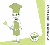 chef cartoon retro | Shutterstock . vector #559512736
