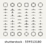 vintage decor elements and... | Shutterstock .eps vector #559513180