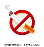 no smoking sign isolated on... | Shutterstock .eps vector #559518328
