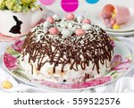 Easter Cake Decorated With...