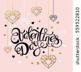 valentines day vector greeting... | Shutterstock .eps vector #559522810