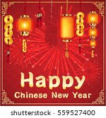 happy chinese new year with... | Shutterstock .eps vector #559527400