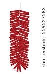 red chinese firecrackers vector ... | Shutterstock .eps vector #559527583