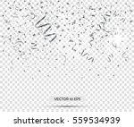silver confetti. vector eps10.... | Shutterstock .eps vector #559534939