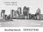 sketch cityscape of london ... | Shutterstock .eps vector #559537540