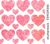 glitter hearts vector... | Shutterstock .eps vector #559539340