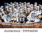 lots of bottled craft beers in... | Shutterstock . vector #559546030
