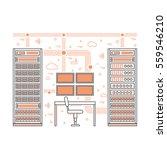vector high tech internet data... | Shutterstock .eps vector #559546210