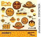 honey label set template.... | Shutterstock .eps vector #559547824