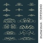 vintage decor elements and... | Shutterstock .eps vector #559554343