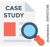 case study vector icon | Shutterstock .eps vector #559557148