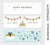 happy birthday party banners... | Shutterstock .eps vector #559562074