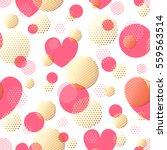valentines day seamless modern... | Shutterstock .eps vector #559563514