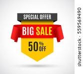 sale banner. vector... | Shutterstock .eps vector #559569490