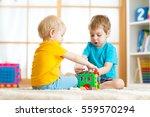 kids toddler and preschooler... | Shutterstock . vector #559570294