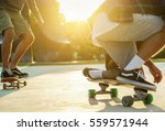two young skaters performing...   Shutterstock . vector #559571944